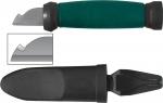 Нож электрика нержавеющая сталь 2-х сторонняя заточка лезвие 33 мм, FIT, 10642