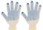 """Перчатки вязаные 2-х сторонние (4 нити; размер 20) """"Люкс"""", FIT, 12493"""