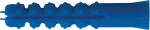 Дюбель распорный с шипами тип К синий 8 х 40 (фасовка 12 шт.), FIT, 23844-2