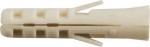 Дюбель нейлоновый NAT 5 х 25 (фасовка 10 шт.), FIT, 24005-2
