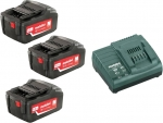 Аккумуляторы 3 шт 18 В и зарядное устройство ASC 30-36, Basic-Set5.2, METABO, 685048000
