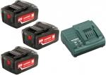 Аккумуляторы 3 шт 18 В и зарядное устройство ASC 30-36 Basic-Set4.0, METABO, 685049000