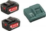 Аккумуляторы 2 шт 18 В и зарядное устройство ASC 30-36 Basic-Set4.0, METABO, 685050000