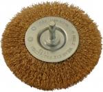 Щетка стальная дисковая (0,2мм) 100x12, HEX6.35, ИНТЕРСКОЛ, 2236410001200