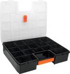 Ящик для хранения мелких предметов, полипропилен, 17 отделений, крышка с дополнительным замком ORG-17X, TRUPER, 19939