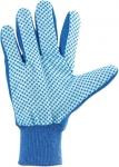 Перчатки рабочие х/б ткань с ПВХ точкой, манжет, СИБРТЕХ