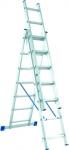 Лестница, 3 х 10 ступеней, алюминиевая, трехсекционная, СИБРТЕХ, 97820