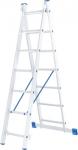 Лестница, 2 х 7 ступеней, алюминиевая, двухсекционная, СИБРТЕХ, 97907