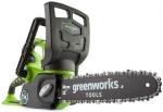 Аккумуляторная пила цепная G40CS30, 40В (без аккумуляторной батареи и зарядного устройства), шина 30 см, GREENWORKS, 20117